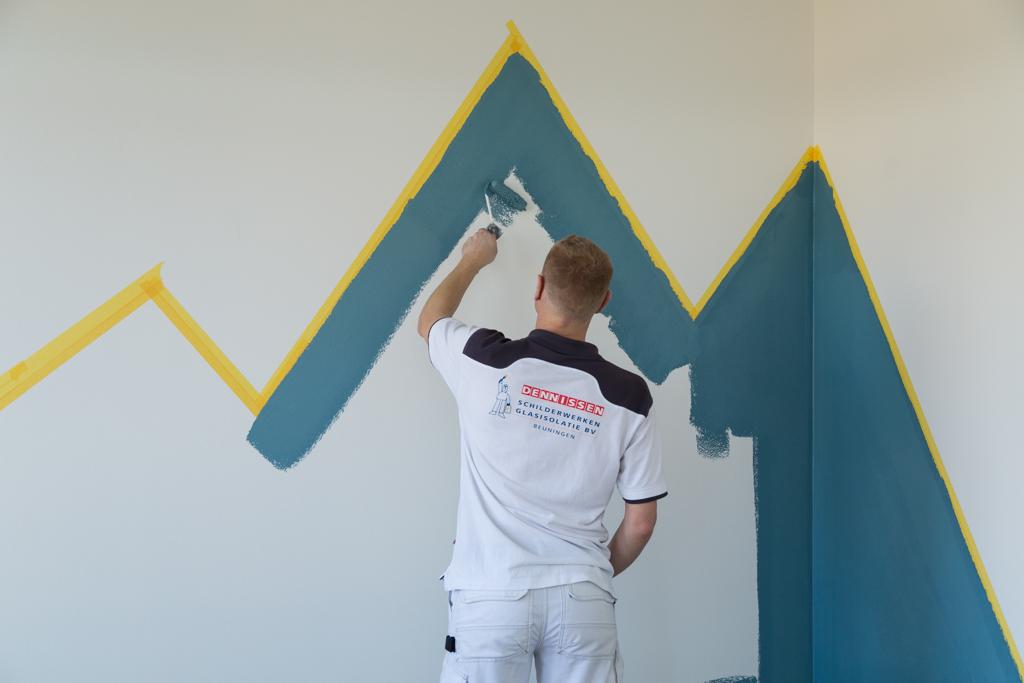 Schilderijen Kinderkamer Voorbeelden : Do it yourself bergen schilderen dennissen schilderwerken